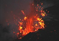 Vulkan Ätna 2006, Eruption Bocca Nuova, video